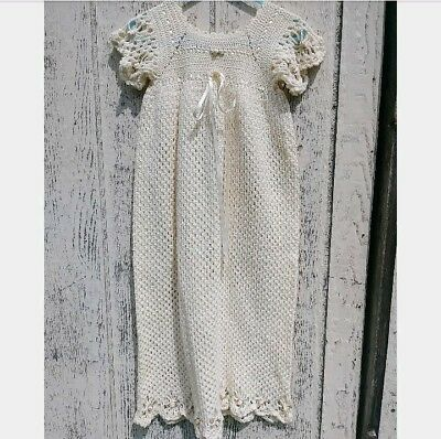 Christening Collection book 2 Completed Crochet Baptism Gown Dress 0-3* 3-6*