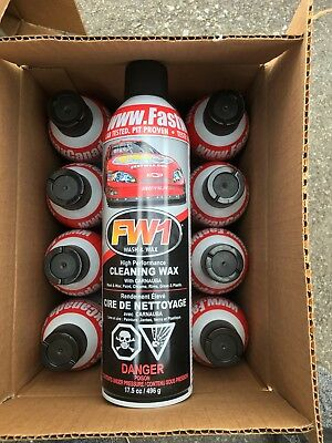 12 Cans Of Fw1 Waterless Detail Cleaner With Carnauba Wax Car Wash