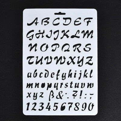 Lettering Stencils, Letter and Number Stencil, Painting Paper Craft Alphabet SGH