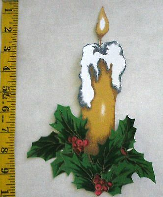 Christmas Candle~ Iron-On Fabric Applque~No Sewing ~