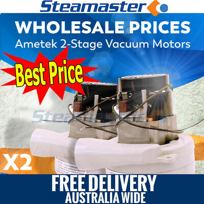 Steam Carpet Cleaning Machines 2x 2 Ametek Vacuum Motor Suits Extractor for sale