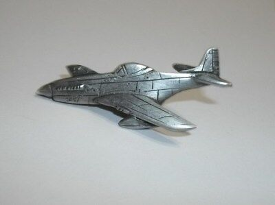 "Wwii P-51 Mustang Pewter Tie Tack Hat Lapel  Pin 1 13/16"" Long"