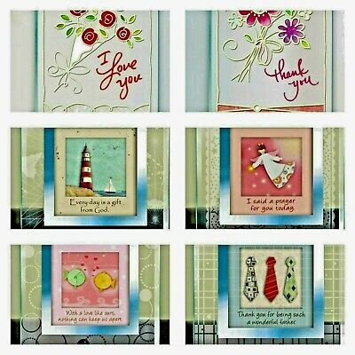 Buy 1 get 1 free! 3D Handmade Glass Sentiments in Different Styles Occasions