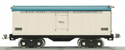 MTH Tinplate Traditions 10-2133 500 Series Std Gauge Reefer White & Blue (SEALED