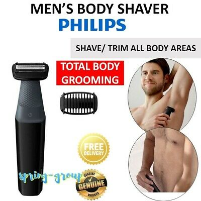 Cordless Body Shaver Mens  Chest Back Legs Hair Trimmer Clipper Grooming Kit