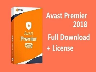 AVAST Premier Internet Security And Antivirus 2018! 4 YEAR PROTECTION!