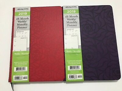 2019 AVALON 18-Month Weekly/Monthly Calendar Planner Appointment Book