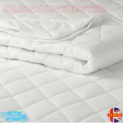New Deep Waterproof Quilted Mattress Protector Fitted Sheet Bed Cover MICROFIBRE