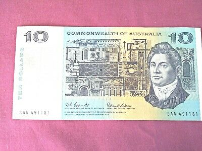 $10 Australian Notes Coombs and Wilson