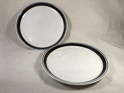 """2 Johnson Brothers Table Plus Stoneware Dinner Plates 10 1/2"""" Speckled England"""