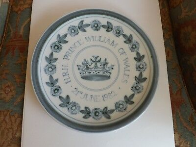 Rye Pottery, HRH Prince William of Wales 21st June 1982 ,Royal,Plate.