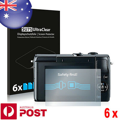 6x Savvies® SU75 Ultra Clear Screen Protector for Canon EOS M100 - P074B