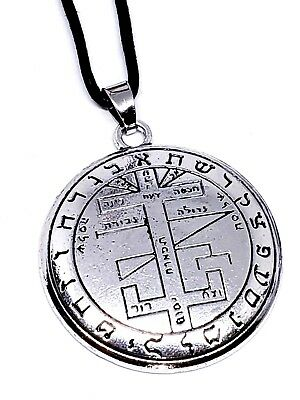 Figure of Solomon Tree of Life Hebrew Seal Pendant Kabbalah Cord Necklace