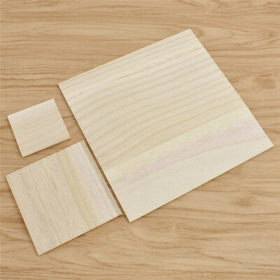 Thickness 3mm Square Unfinished Wood Pieces Crafting Accessories DIY Handcrafts
