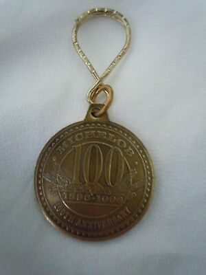 Michelob Beer 100Th Anniversary Promo Key Chain 1896 To 1996 New Collectors Look