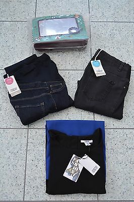 NEW Mamas and Papas MATERNITY Bundle Dress + 2 x Pairs of Jeans + Toy Size 8 Reg