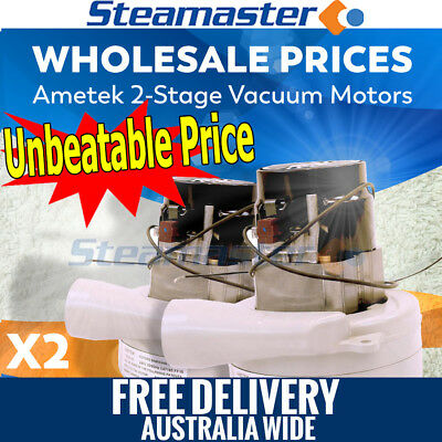Carpet Steam Cleaning Products 2 x 2 Ametek Vacuum Motor Suits Extractor Machine