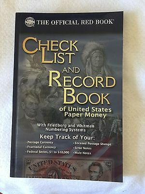 Red Book: Check List and Record Book of the United States Paper Money