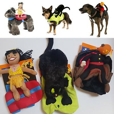 Dog Rider Costume Comedy Funny Pet Fancy Dress Outfit Small or Large Sizes