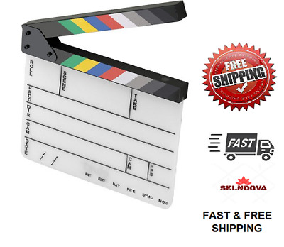 Elvid 9-Section Acrylic Dry Erase Production Slate [Clapboard] with Color New Fr