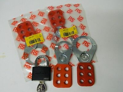 6 Lock Lockout, 25mm 38mm 4 OFF + Alu Padlock