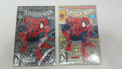"""Spider-Man comic issues #1 """"Torment"""" variant and regular cover Todd McFarlane"""