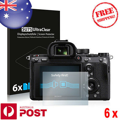 6x Screen Protector Sony Alpha 7R III Transparent Protective Film - P065BF