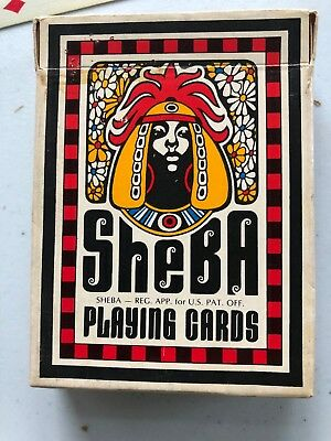 American SHEBA Playing Cards 1972 Black African Figure Designs Poker Size