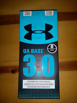 $75 NEW Womens Under Armour Base 3.0 Crew Black