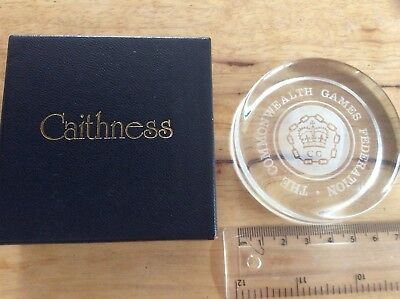 Rare Caithness Paperweight The Commonwealth Games Federation (Promotional?)