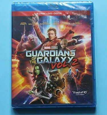 Guardians of the Galaxy Vol. 2 (Blu-ray/DVD, 2017, Includes Digital Copy) NEW
