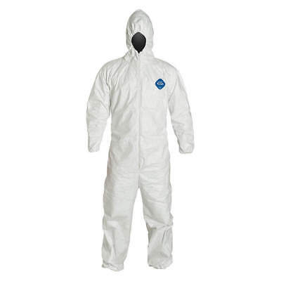 DuPont Tyvek 7x TY127S Disposable Coverall Bunny Suit Hood Elastic Wrists Ankles