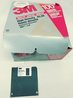 Macintosh 3M High Density HD 1.40MB Diskettes Not Used Lot of 59