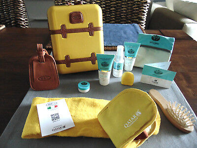 QATAR AIRWAYS First Class BRIC'S Amenity Kit YELLOW Trousse Neceser Kulturbeutel