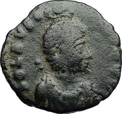 EUDOXIA Arcadius Wife 400AD Authentic Ancient Roman Coin HAND OF GOD i71225