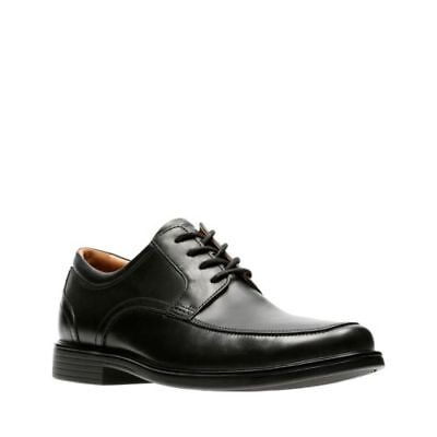 a815dd77c CLARKS UN ALDRIC PARK Mens Black Leather 32576 Lace Up Comfort Shoes ...