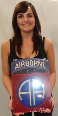 """82nd Airborne Division All Metal Sign  Large 11 x 15/""""    Paratrooper"""