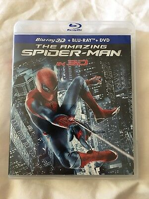 The Amazing Spider-Man 3D (Blu-ray/DVD, 2012, 4-Disc Set)-Like New