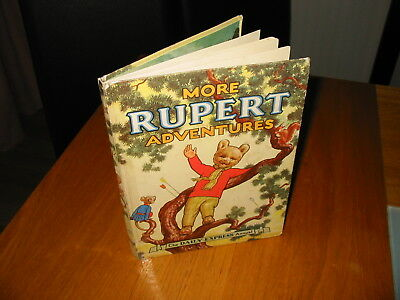 Old Vintage More Rupert Adventures 1952 Book Daily Express Childrens Annual Bear