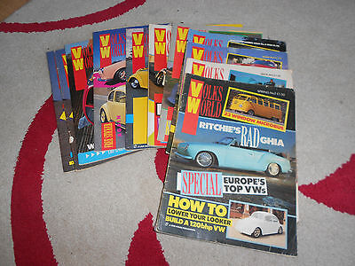 Volksworld VW mags, Volumes 1 - 8 (98 no.) - Beetle/Camper + few extras + gifts.