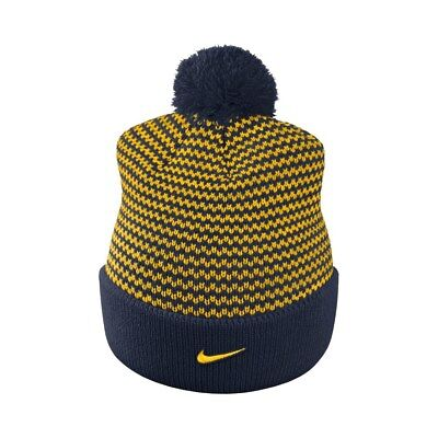 reputable site 05352 9c7fb NIKE Michigan Wolverines Women s Cuffed Knit Hat Beanie Cap with Pom - Adult