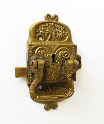 Antique Ornate Brass Ice Box Latch , Vintage Hardware
