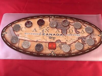 1999 Canada Millennium 13 Coin Quarter Set - Royal Canadian Mint Collectible
