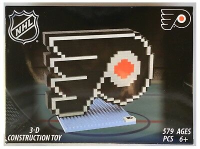 Philadelphia Flyers NHL Ice Hockey 3D Logo BRXLZ Brick Construction Set Puzzle