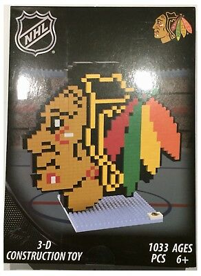 Chicago Blackhawks NHL Ice Hockey 3D Logo BRXLZ Brick Construction Set Puzzle