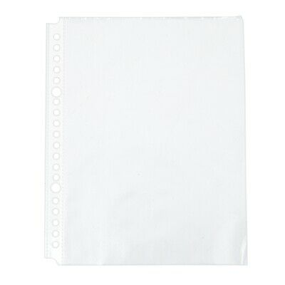 Pack of 200 A5 Clear Punched Pockets - Plastic Poly Folders A6L7