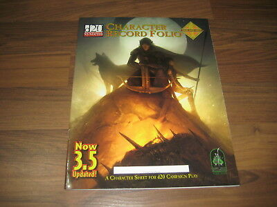d20 Character Record Folio Updated SC Green Ronin D&D 3.5 2003 GRR1023