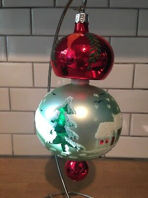 Christopher Radko 1992 92-105-0 Alpine Village Ball Drop Ornament