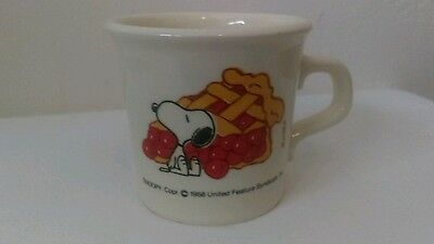 Vintage Snoopy & Cherry Pie Mug 1958 United Feature Syndicate, Inc