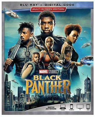 Black Panther (Blu-ray + Digital, 2018, w/Slipcover) NEW! Free Fast Shipping!